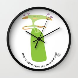 on the inside : chilling out Wall Clock