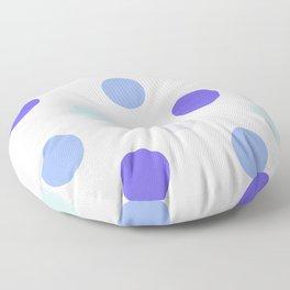 Rainy Polka Dots - Abstract Rain Floor Pillow