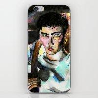 donnie darko iPhone & iPod Skins featuring Donnie Darko Portrait by Colin Webber