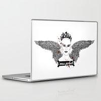black swan Laptop & iPad Skins featuring Black Swan by raeuberstochter