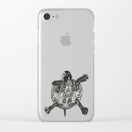 turtle party violet Clear iPhone Case