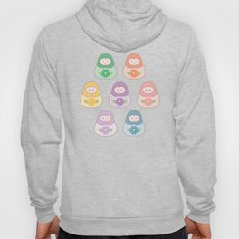 Russian nesting doll surface pattern vector Hoody