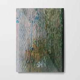 Wooden panel Metal Print
