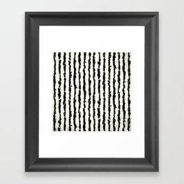 Vertical Ivory Stripes Framed Art Print