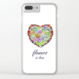 Flowers in Love #Artlove Clear iPhone Case