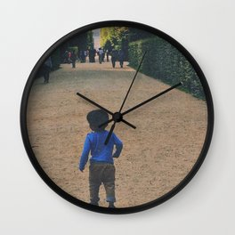 Wandering Blue Wall Clock