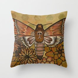 Bee Robber Throw Pillow