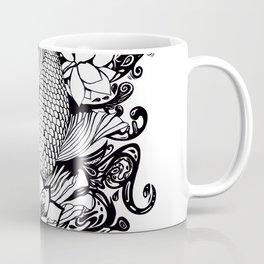 Black and White Carpa koi Coffee Mug