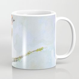 European goldfinch on tree branch Coffee Mug