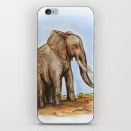 The Majestic African Elephant iPhone Skin