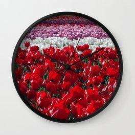Parade of Tulips Wall Clock