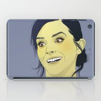 emma watson iPad Cases featuring Emma Watson funny face by Esther Cerga