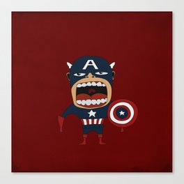 Screaming Captain America Canvas Print