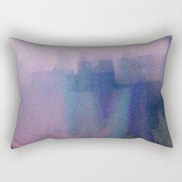 Big Blue City Rectangular Pillow
