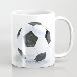 Soccer Ball Watercolor Coffee Mug