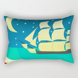 Spanish Galleon Rectangular Pillow