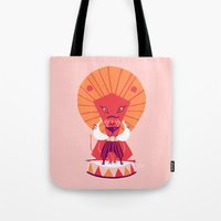 be brave Tote Bags featuring Brave by Carolina Búzio
