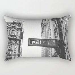 Wall street bw Rectangular Pillow