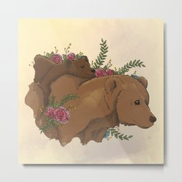 Bear Mom II Metal Print