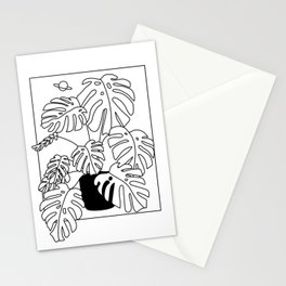 Magic Monstera Stationery Cards