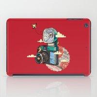 vintage camera iPad Cases featuring Camera by dmirilen