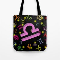 libra Tote Bags featuring Libra by Thisisnotme