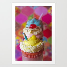 Cirque du Cupcake Art Print