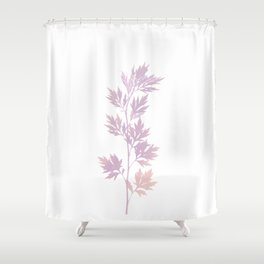herbarium pink Shower Curtain