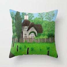 Cottage---Longleat safari park Throw Pillow