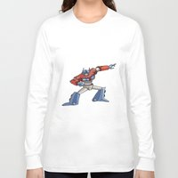optimus prime Long Sleeve T-shirts featuring Optimus Prime by joanniegelinas