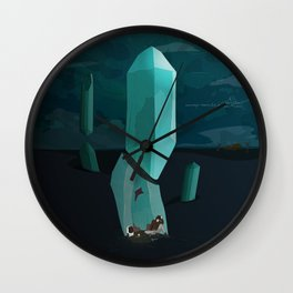 Into the Desert Wall Clock