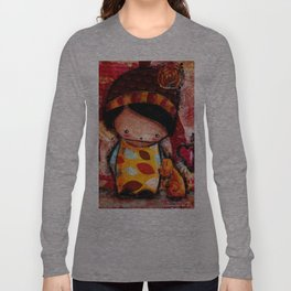 Cat and Her New Friend Long Sleeve T-shirt