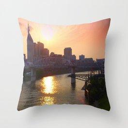 Nashville Dusk Throw Pillow