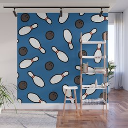 Bowling for Pins Pattern Wall Mural