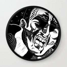Glass Jaw Wall Clock