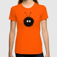 Orange Cute Dazzled Bug Winter LARGE Orange Womens Fitted Tee