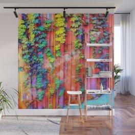 Rainbow Bamboo Wall Mural