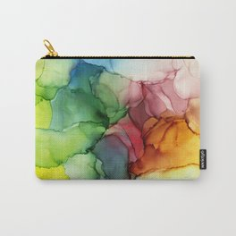 Stormy Spectrum | Abstract Rainbow Painting Carry-All Pouch