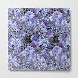 Indigo Bloom Metal Print