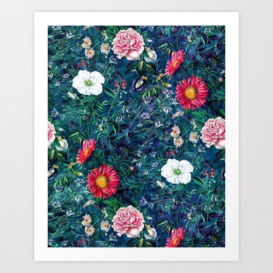 Spring Flowers Dark Art Print
