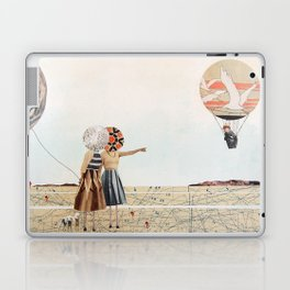 trip to the moon, collage Laptop & iPad Skin