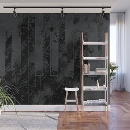 piano keys and music sheet pattern wsbgr Wall Mural