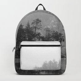 Historic Mattawa River in Black and White Backpack