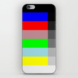 Color vs Grayscale TV Testing iPhone Skin
