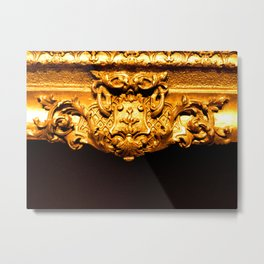 Gold Frame Metal Print