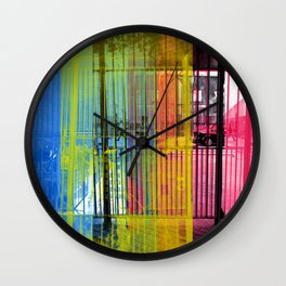 While remaining optimistic despite segmented bits. [CMYK] Wall Clock