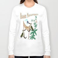volleyball Long Sleeve T-shirts featuring Beach Volleyball by Wired Circuit