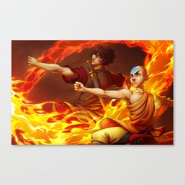 Aang and Zuko Canvas Print
