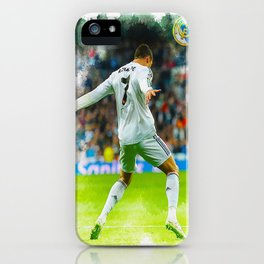 Cristiano Ronaldo celebrates after scoring iPhone Case