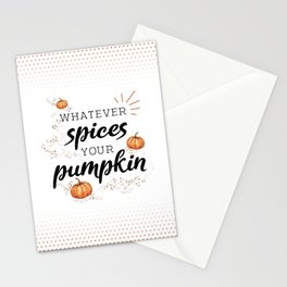 Whatever Spices Your Pumpkin - Fall Stationery Cards